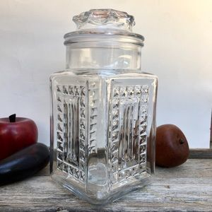 AHSG Co. Patterned Textured Glass Canister Lid